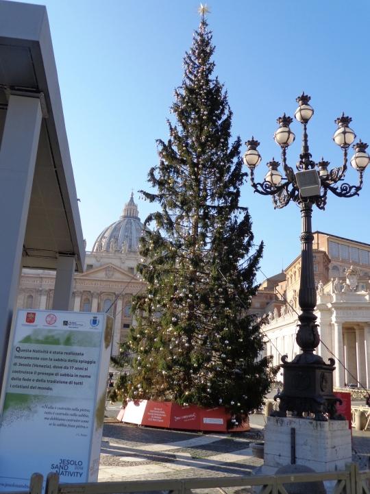 Árbol navidad 2018 en Piazza San Pietro