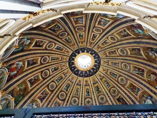Interior de la cúpula de San Pedro