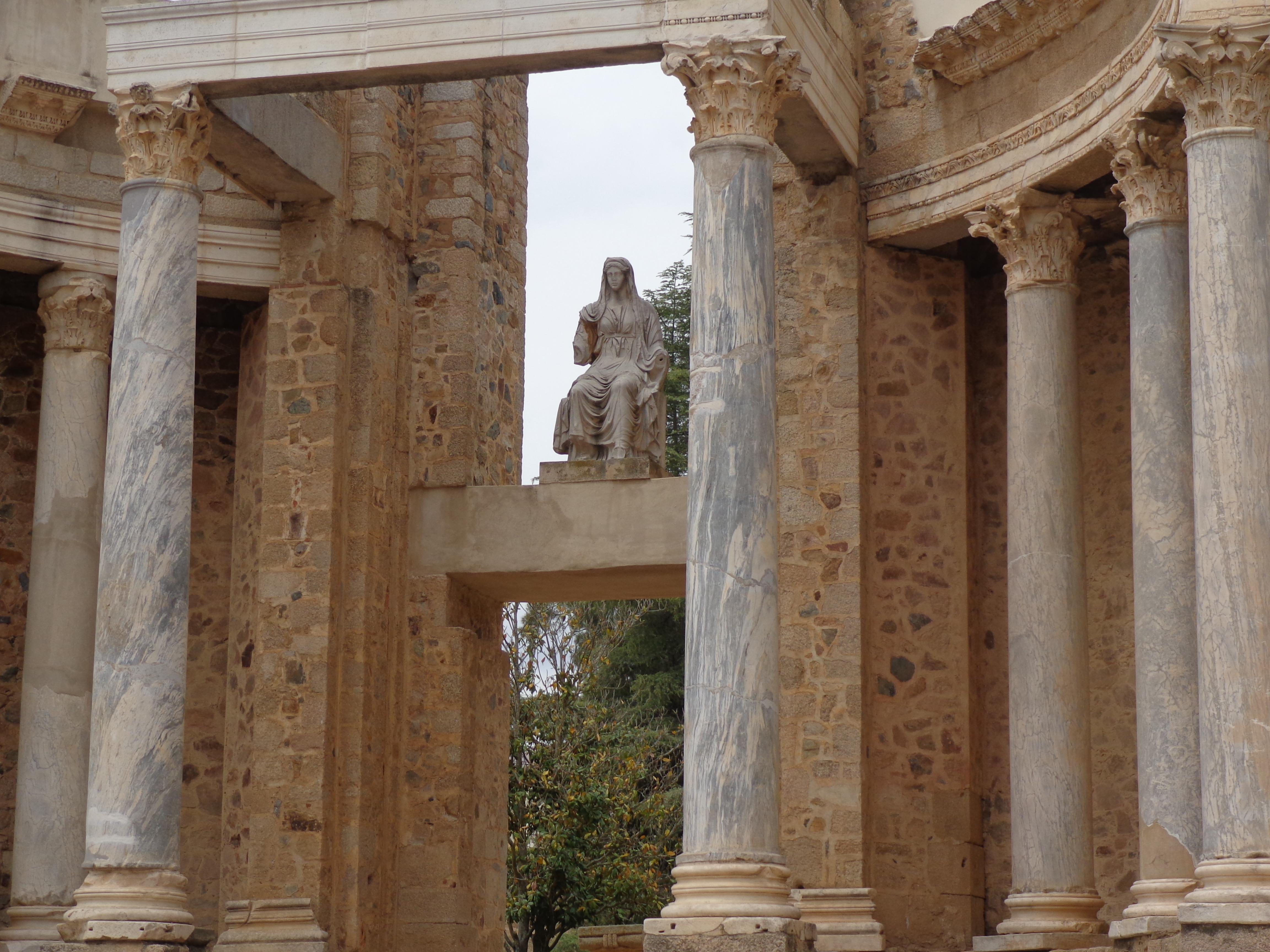 La Diosa Ceres en Teatro Romano, Mérida