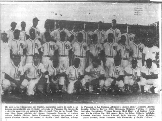 Leones del Habana, equipo campeón Serie del Caribe 1952