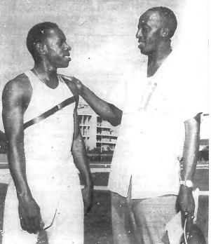 Enrique Figuerola y Rafael Fortún en agosto de 1959
