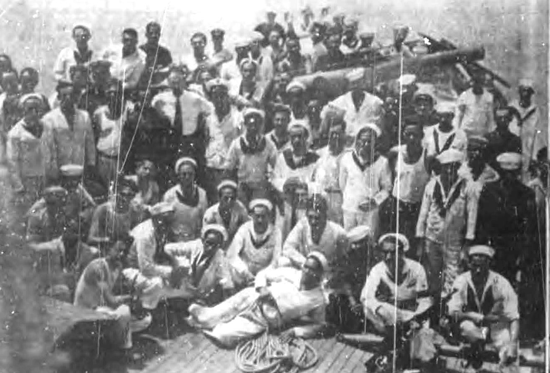 Marineros cubanos el 4 de setiembre de 1933