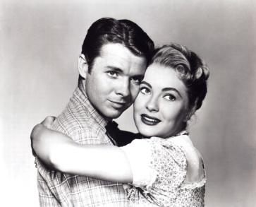 Audie Murphy con Lori Nelson en Honor y Venganza 1954
