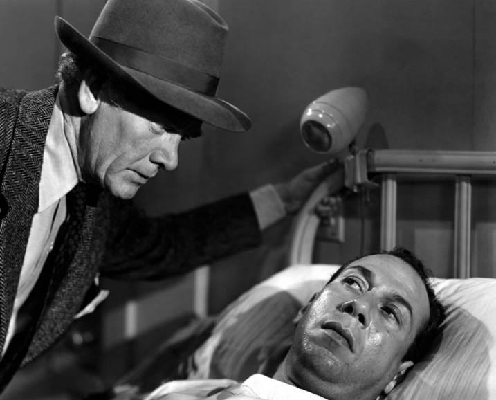 Charles Bickford izq. con José Ferrer en Vorágine (1949)