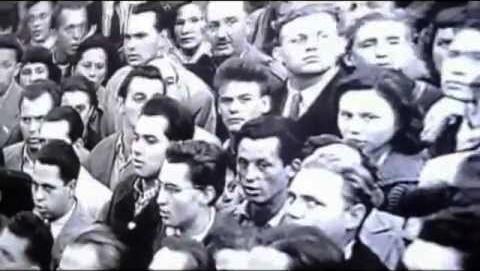 La manifestación estudiantil del 23 de octubre de 1956