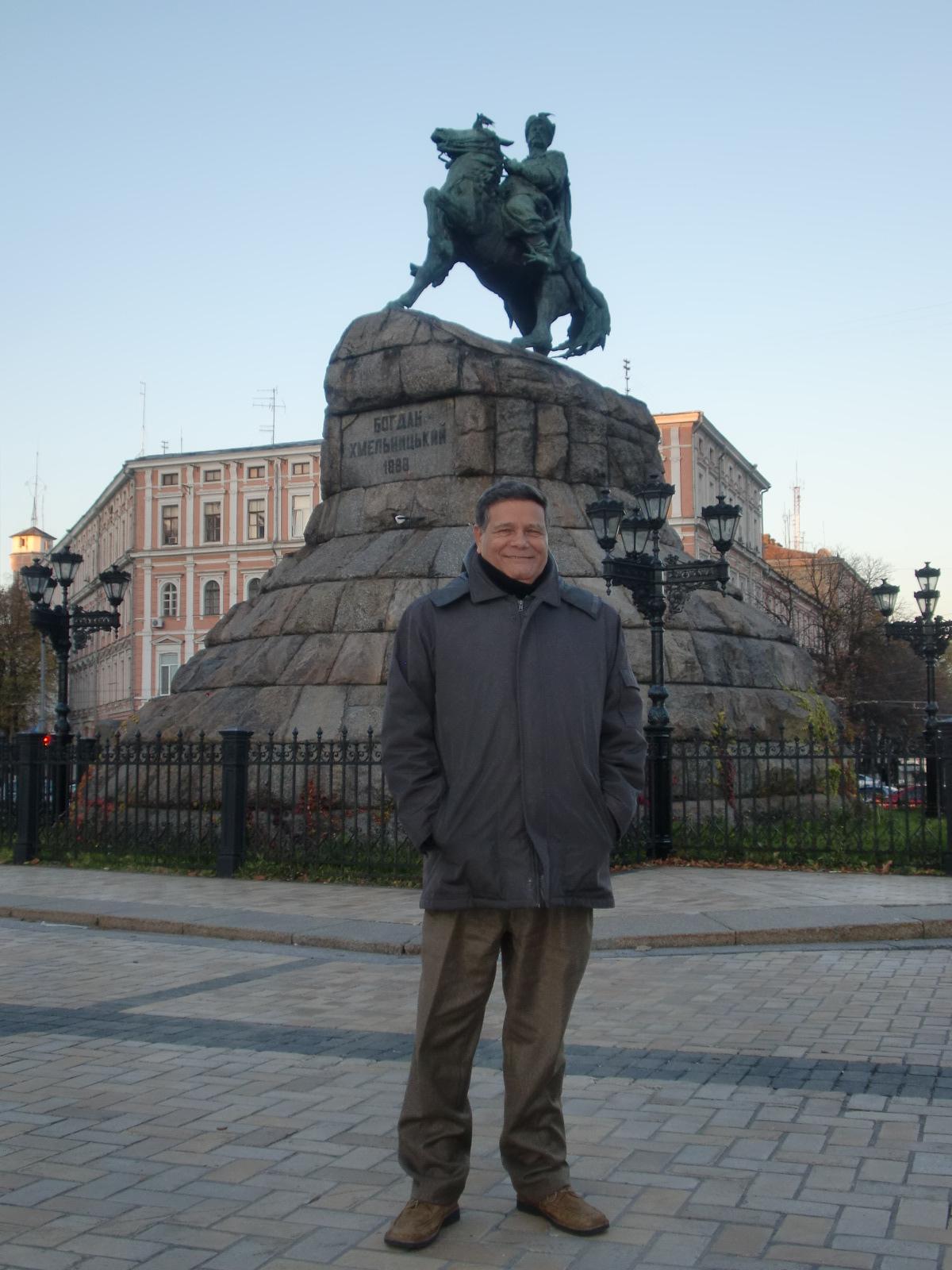 En monumento a Bogdan Khmelnitski, Kiev, Ucrania