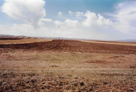 Campo arado en Mongolia