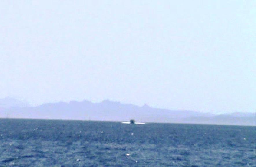 Costa de Cerdeña desde Bonifacio, Corcega